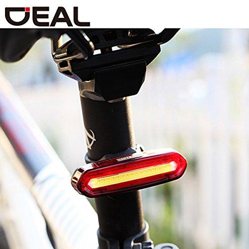 充電式USBバッテリー付きスーパーブライトバイクテールライト、6ライトモード、赤と白のライト、バイク、ヘルメット、バッグに対応   B01LXRCULR