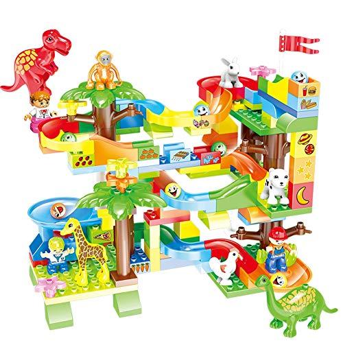 - DIY Puzzle Building Blocks Assembling Children Interactive Toys Set 165PCS Jungle Slide ABS Big Particles Spelling Ball Ball Boy Girl Gift