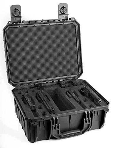 Black Seahorse 4 Pistol Carrying / Range case. Holds 4 pisto