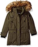 Steve Madden Big Girls' Outerwear Jacket (More Styles Available), Paprika/Olive, 7/8