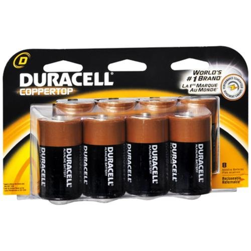 Coppertop Alkaline Batteries - D Size