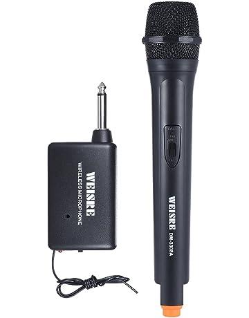 ammoon Inalámbrico de Mano Dinámica Unidireccional Micrófono Amplificador de voz para la Reunión de Karaoke Ceremonia