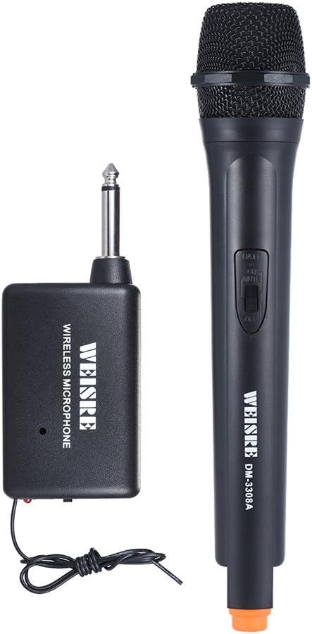ammoon Micrófonos Inalámbrico de Mano Dinámica Unidireccional Micrófono Amplificador de voz para la Reunión de Karaoke Ceremonia Promoción