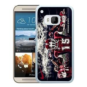 Fresno State Bulldogs 02 White Hard Plastic HTC ONE M9 Phone Cover Case