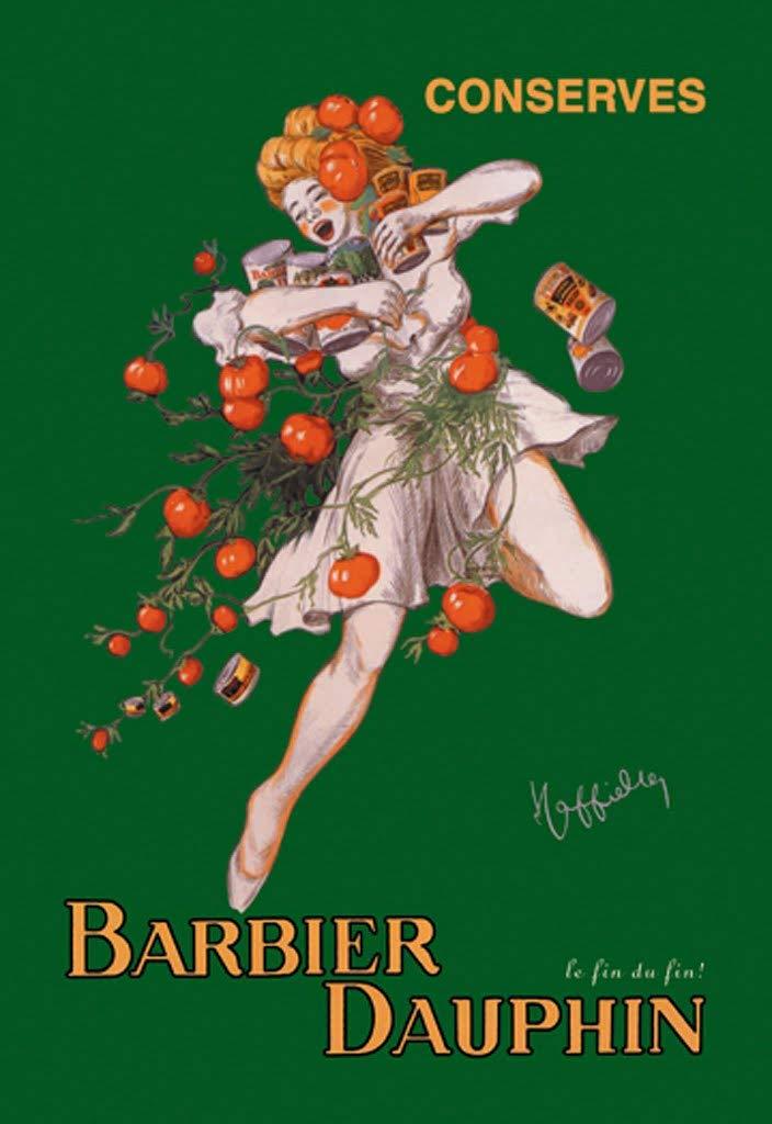 ArtParisienne Barbier Dauphin Conserves le fin du fin! Leonetto Cappiello 24x36-inch Wall Decal