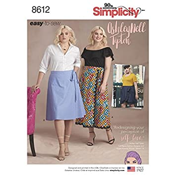 Amazon Simplicity Pattern 8612 Womens Easy Wrap Skirts By
