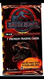 2001 Jurassic Park Sealed Trading Cards (4) Unopened Packs Non-sport Trading Cards