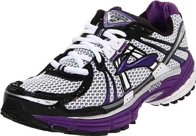 Brooks Women's Adrenaline GTS 12 Running Shoe,Acai/Black/White, 7 B(M) US