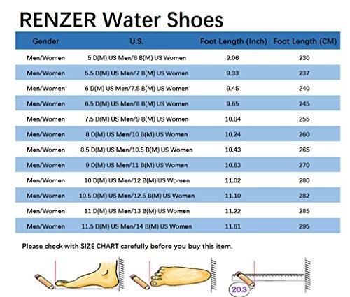 RENZER Wasserschuhe Leichte Schwimmhaut Aqua Socken Schuhe Slip-on für Strand Web-Hotpink