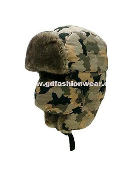 6c8bb7d65 Women's/Men's Winter Windproof Camouflage Faux Fur Trapper Hat with ...