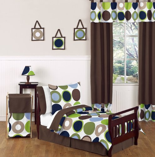 Sweet Jojo Designs 5-Piece Designer Dot Modern Kids Boy Toddler Bedding Set ()