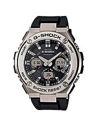 Casio De los hombres G SHOCK 'acero inoxidable y resina de cuarzo reloj Casual, Color: Negro (Modelo: gst-s110–1ACR)