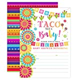 Your Main Event Prints Fiesta Baby Shower Invitation, Taco Baby Shower, Taco Bout A Baby Shower Invite, Fiesta Invitation, 20 Fill in Invitations and Envelopes