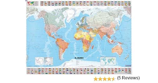 Mapa plastificado El Mundo Mapas en tubo y plastificados Michelin ...