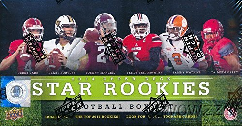 2014 Upper Deck NFL Football EXCLUSIVE STAR ROOKIES Factory Sealed Box Set with 42 ROOKIE CARDS! Includes Rookies of Odell Beckham Jr, Derek Carr, Jimmy Garoppolo & Many More! Look (Upper Deck Nfl Box)