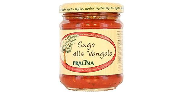 Pralina - Salsa de tomate almeja casera (vongole) 180gr: Amazon.es: Alimentación y bebidas