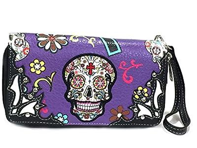 Cowgirl Trendy Matching Sugar Skull Wallet for Sugar Skull Purse