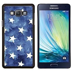 Caucho caso de Shell duro de la cubierta de accesorios de protección BY RAYDREAMMM - Samsung Galaxy A7 A7000 - Las rayas de la bandera americana Azul Blanco