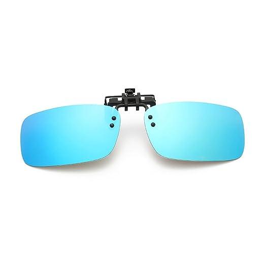 LUFA Unisexe Lunettes de soleil Voyage polarisés UV400 lentille Clip-on flip-up lunettes de soleil Lunettes Bleu RuRd7LJk