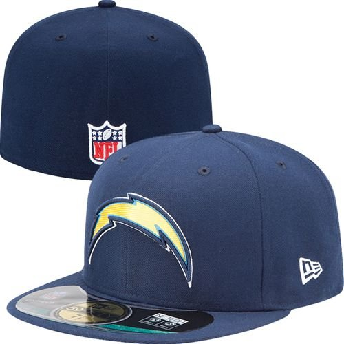 96b6f6fafa7e63 Amazon.com : NFL Mens San Diego Chargers On Field 5950 Navy Game Cap By New  Era : Sports Fan Baseball Caps : Clothing