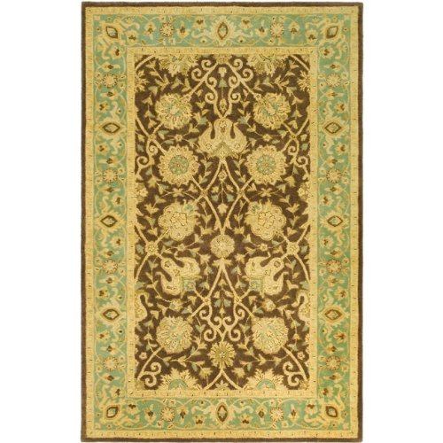 (Safavieh Antiquities Collection AT21G Handmade Traditional Oriental Brown and Green Premium Wool Area Rug (4' x 6'))