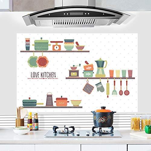 SHAN'S Etiqueta De La Pared Campana De Cocina A Prueba De Aceite Pegatinas Estufa De Alta Temperatura Restaurante Gabinete...