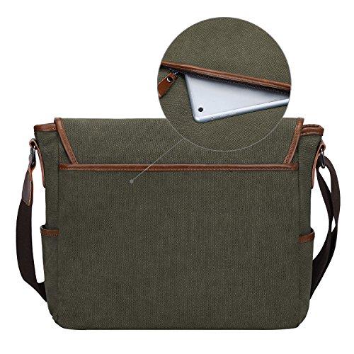 S-ZONE S-ZONE D04V844C - Bolso al hombro para hombre marrón café Army Green