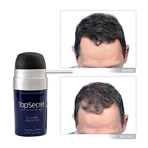 Top Secret Hair Thickening Fibers - Compact Design! Black (.25 OZ.) by Top Secret (Image #7)