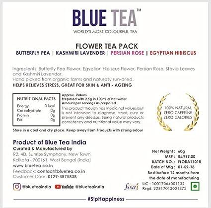 Blue Tea Diwali Exotic Flower Tea Gift Pack | Butterfly Pea