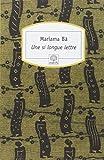 une si longue lettre by mariama ba ba mariama 2002 paperback