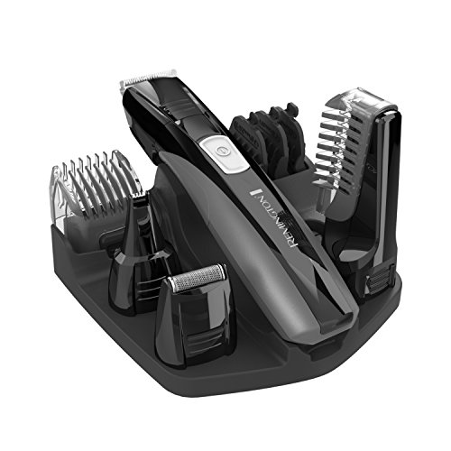 Remington PG525 Head to Toe Lithium Powered Body Groomer Kit, Beard Trimmer (10 - Facial System Grooming