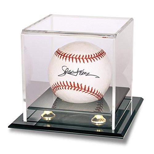 Baseball & Puck Gold Riser Display - Display Case Baseball Floating