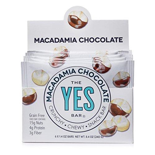 Macadamia Nut Brownies - Macadamia Chocolate - Gourmet Gluten-Free, Low Sugar, Paleo Snack Bar (Pack of 6)