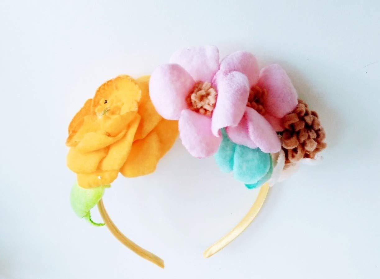 Butterfly Headband Felt Flower Blue Felt Flower Felt Felt Headband Toddler Headband Baby Girl Headband Nylon Headband Felt Headband