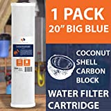 Activated Carbon Water Filter 1-PACK Of 5 Micron Big Blue Coconut Shell Carbon Block Water Filter 20