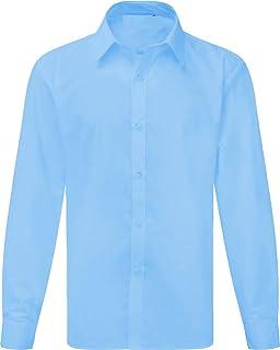 Ayra Boys School Non Iron Long Sleeve or Short Sleeve Shirt Pack of 2