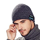 #10: Bluetooth Beanie Hat Wireless hands-free Music Cap with Rechargeable USB Gifts for men women boys girls (dark gray)