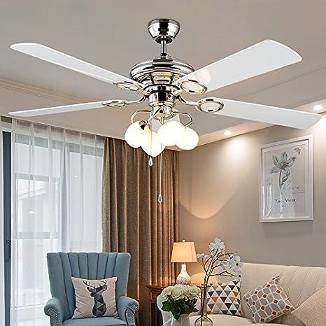 Ventilador de estilo europeo, lámparas colgantes ...