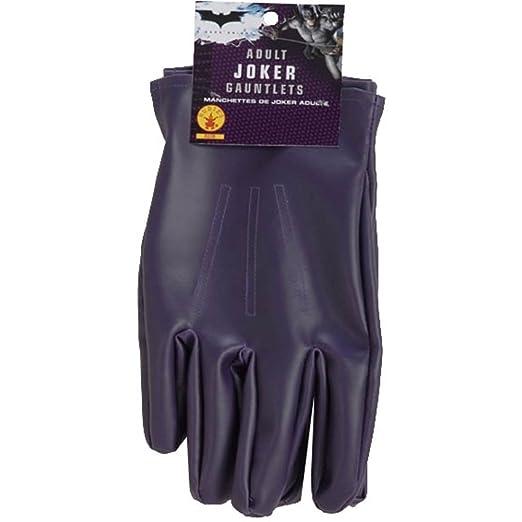 aa7bdea56e240 Amazon.com: The Joker Adult Gloves Purple, One Size: Clothing
