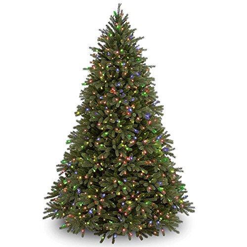 - 7.5' Pre-Lit Jersey Fraser Fir Artificial Christmas Tree - Multi-Color Lights