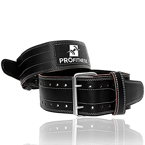 Powerlifting Belt - Perfect for Wod Crossfit, deadlifting, resistance Training, strength training Exercise - Perfect for Men and Women (Black/White, Medium (Lumbar Brace 5x)