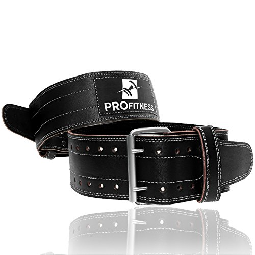 Weight Lifting Belts for Men and Woman Leather Weightlifting Belt Comes With (Black/White, Medium)