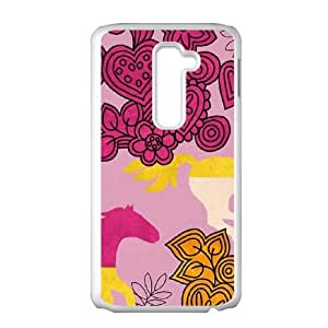 Hearts and Horses LG G2 Cell Phone Case White DIY GIFT pp001_8015964