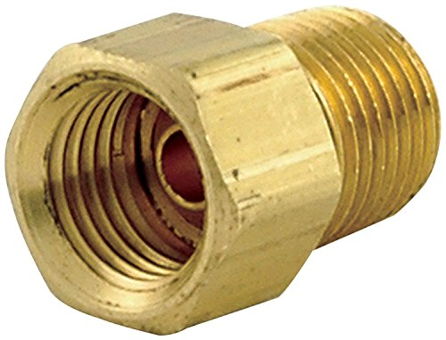 (Inverted Fuel Gas Line Brass Fitting, Connector Coupling flare Connector 1/4