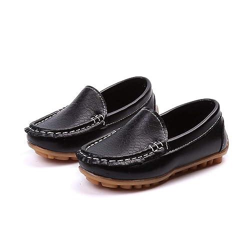 Sunny&Baby Boys Casual Penny Driving Loafer GirlS Bare PU Vamp Mocasines para niños Zapatos para niños