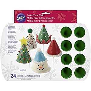 Wilton 2105-0074 24-Cavity Christmas Cone Bite-Size Silicone Treat Mold