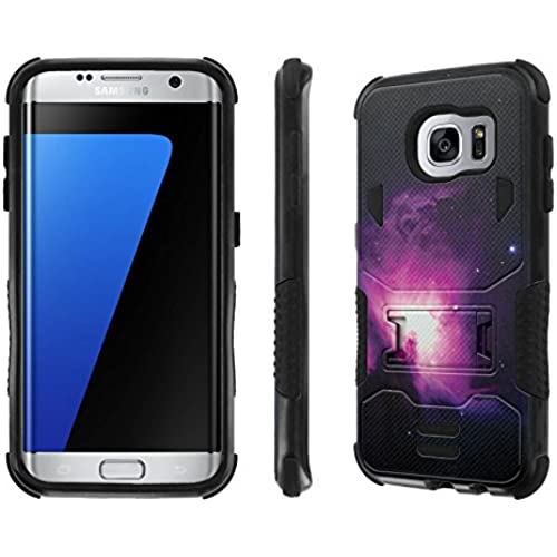 Galaxy S7 Edge Case, [NakedShield] [Black/Black] Combat Tough SHOCK PROOF with KICKStand - [Nebula] for Samsung Galaxy S7 Edge / GS7 Edge [5.5 Sales