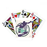 Extreme Sports Athletes Skate Boarding Illustration Poker Playing Cards Tabletop Game Gift