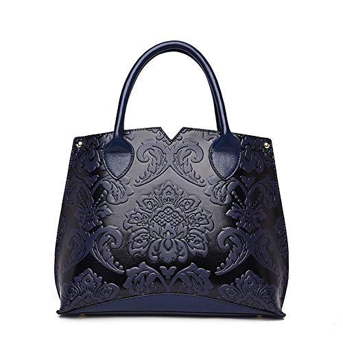 Wind Sac sac bandoulière bleu Wangkk en femme pour portable Vin à rouge relief portable Nouveau Shoulder Sac pour national 1Yn6Sfwq