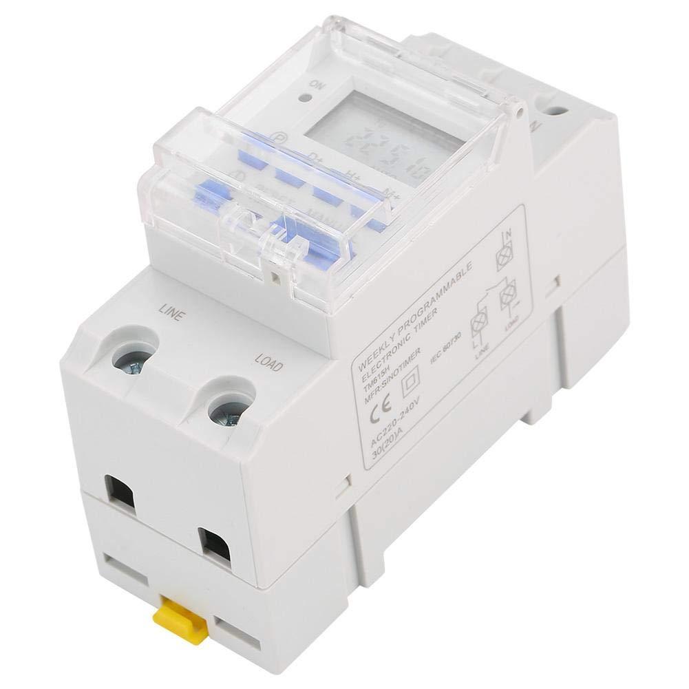 Minuterie num/érique Commutateur /électronique programmable LCD num/érique minuterie /électronique pour les commandes d/éclairage TM615H-2 30A 220V
